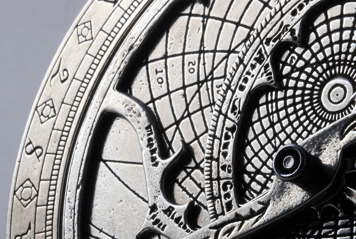 A partial view of an astrolabe